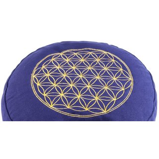 Flower of Life Meditation cushion purple