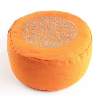 Flower of Life Meditation cushion orange