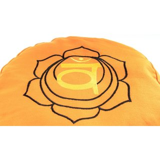 Meditationskissen Sakralchakra orange