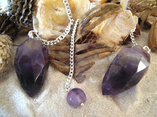 Amethyst faceted Drop Pendulum