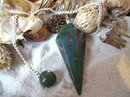 Bloodstone Pendulum faceted