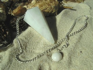 White Agate Pendulum faceted