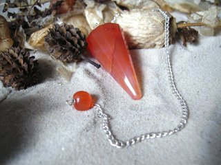Red Carnelian Pendulum faceted