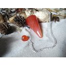Carnelian Pendulum faceted