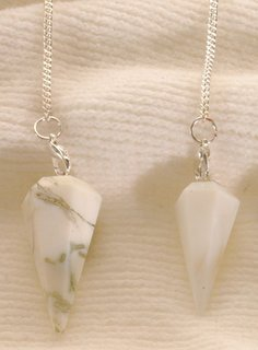 White Opalite Pendulum faceted